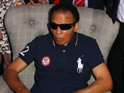 "Muhammad Ali attended a U.S. Olympic Committee Benefit Gala Wednesday, but his wife, Lonnie, says the boxing legend was ""feeling jet-lagged."""