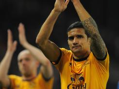 Tim Cahill scored 56 goals in 226 Premier League matches with Everton and netted 24 times in 55 appearances for Australia.