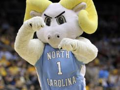 Rameses, the mascot for the North Carolina Tar Heels.