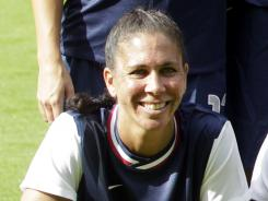 Shannon Boxx will sit out of the USA's game Saturday against Colombia.