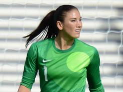 Hope Solo hopes to lead the USA to a gold medal in women's soccer.