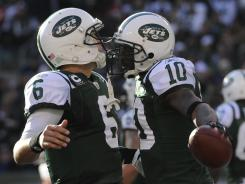 Jets QB Mark Sanchez (6) and WR Santonio Holmes enter their third season as teammates.