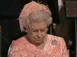 Queen Elizabeth II had a distraction while members of the Great Britain team entered during the opening ceremonies.