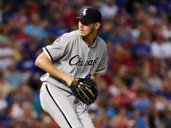 The White Sox left-hander allowed six hits and five runs while striking out six in Chicago's 9-5 win over the Texas Rangers.