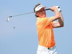 Bernhard Langer is the leader after three rounds of the Senior British Open at Turnberry, Scotland.