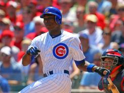 Alfonso Soriano hit a two-run triple during the first inning against the St. Louis Cardinals on Saturday.