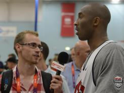 Los Angeles Lakers guard Kobe Bryant, speaking with USA TODAY's Mike Foss, knows the USA men face a tough test in the Olympic basketball opener Sunday vs. France.