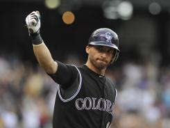 Marco Scutaro will bolster San Francisco's infield hitting .271 with four home runs and 30 RBI in 95 games for the Rockies this season.