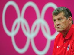USA women's basketball coach Geno Auriemma is experiencing the pink invasion.