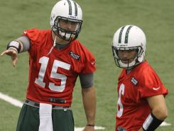 New York Jets quarterbacks Mark Sanchez and Tim Tebow vow to remain friends.