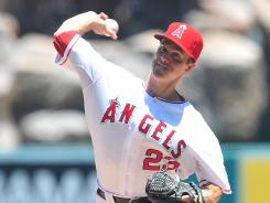 New home: Zack Greinke pitches Sunday for the Angeles.