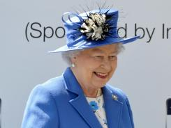 Queen Elizabeth II was shown jumping out of a helicopter during the opening ceremony.