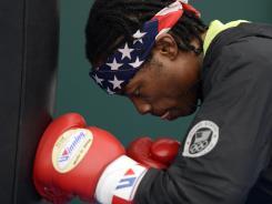 USA Men's flyweight Raushee Warren from Cincinnati, Ohio, trains in preparation for the 2012 London Olympic Games.