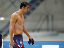 Michael Phelps failed to medal in the men's 400 IM on Saturday.