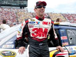 Greg Biffle was among the Sprint Cup drivers who tested the new Goodyear tire at Michigan International Speedway on Monday, and noted 'it had a lot of grip.'