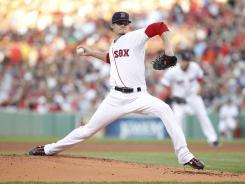 Red Sox pitcher Clay Buchholz pitched eight solid innings to help Boston top the Tigers 7-3 at Fenway Park.