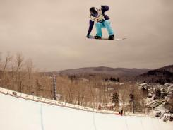 Kelly Clark competes at the 30th Annual Burton US Open of Snowboarding.