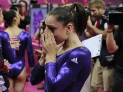 On Sunday, reigning world champion Jordyn Wieber failed to qualify for the gymnastics all-around final at the London Olympics.