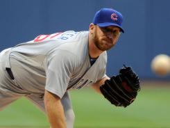 New gig: Ryan Dempster, shown June 5, has a 2.25 ERA in 2012. He'll be in the American League for the first time.
