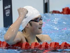 Shiwen Ye enjoys her 400 individual medley victory Tuesday, and has expressed annoyance over doping suspicions.