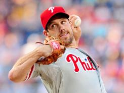 Phillies pitcher Cliff Lee was dominant Tuesday night in shutting out the Nationals.