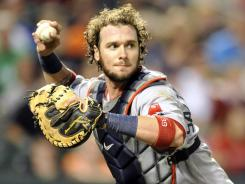 Red Sox catcher Jarrod Saltalamacchia leads the majors in stolen bases allowed.