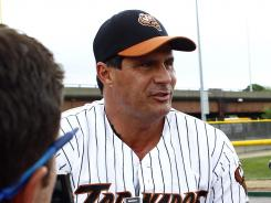 The last time Jose Canseco, 48, was seen on a baseball field was this spring when he was playing for the independent league Worcester (Mass.) Tornadoes.