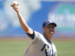 Alex Cobb struck out six and allowed one run in seven innings as the Rays took two of three in the series with the A's.