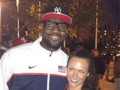 Lauren Perdue, right, had to turn down a dinner invite by LeBron James.