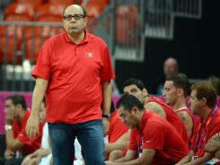 Tunisia's basketball team's coach Adel Tlatli was shown slapping one of his players in a loss to the U.S.