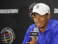 Tiger Woods, with seven wins on the South Course at Firestone Country Club, looks forward to this week's WGC-Bridgestone Invitational as a tuneup for the PGA Championship, his last shot this year at a major.