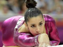 Aly Raisman scored 14.200 on the balance beam Thursday after scoring 14.933 and 15.100 during the team competition.