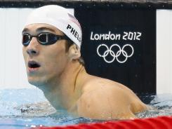 Michael Phelps will go for a gold-medal three-peat tonight in the 200-meter individual medley final.