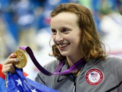 Katie Ledecky, 15, won gold in the women's 800-meter freestyle.