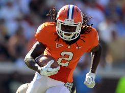 Clemson's Sammy Watkins (2) will miss the Tigers' first two games of the season.