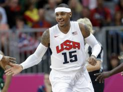 Team USA forward Carmelo Anthony had a huge game against Nigeria on Thursday, scoring 37 points in less than 15 minutes of playing time.