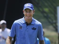 Jim Furyk, the second-round leader in the WGC-Bridgestone Invitational, is hoping a good result helps him get closer to making the U.S. Ryder Cup team.