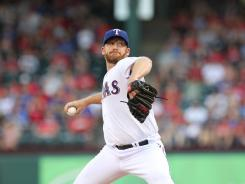 Making his first start as a Texas Ranger, Ryan Dempster allowed eight runs on nine hits in just 4 innings against the Angels.