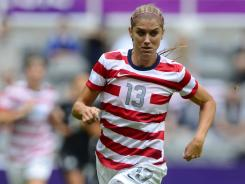 Forward Alex Morgan dished out the assist that led to the first goal against New Zealand.