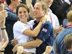 Prince William and Kate watched the action Thursday at the Velodrome at the London Olympics.