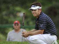 South African Louis Oosthuizen is one shot behind Jim Furyk entering Sunday's final round of the WGC-Bridgestone Invitational on the South Course at Firestone Country Club in Akron, Ohio.
