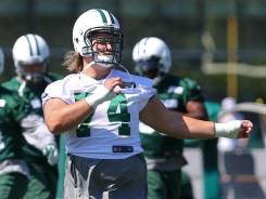 Jets C Nick Mangold had not planned to leave training camp for the Olympics but reversed course.