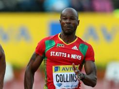 Kim Collins of St. Kitts & Nevis was sent home from the London Games.