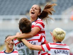 The U.S. forwards have been prolific in the tournament with Abby Wambach (14) and Alex Morgan combining to score six goals.