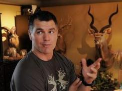 Colts kicker Adam Vinatieri has a love for hunting, big game hunting. His office in his Carmel home is decorated wall to wall with his hunting trophies.