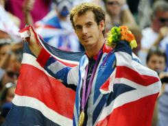 Andy Murray won gold in men's singles tennis on his home soil Sunday, then followed it up with silver in mixed doubles.