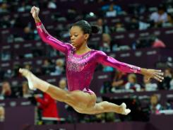 Gabby Douglas, competing in the women's all around final at the London Games, has lived in Iowa since 2010. Her mother, Natalie Hawkins, filed for Chapter 13 bankruptcy in Virginia in January.