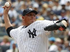 Yankees pitcher Freddy Garcia notched his 150th career win Sunday.