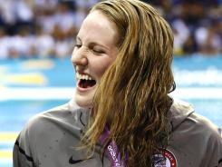 U.S. swimmer Missy Franklin is among the athletes who have enjoyed special tweets at the Olympics. She was congratulated by pop star Justin Bieber.