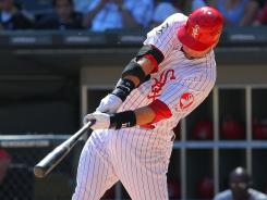 White Sox catcher A.J. Pierzynski's two-run homer in the sevent inning led Chicago past the Angels on Sunday.
